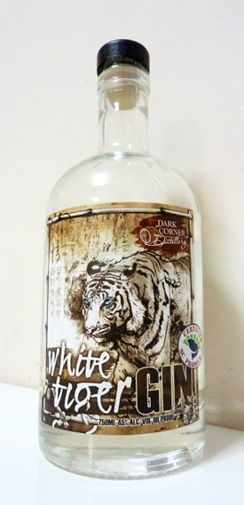 White Tiger Gin Bottle