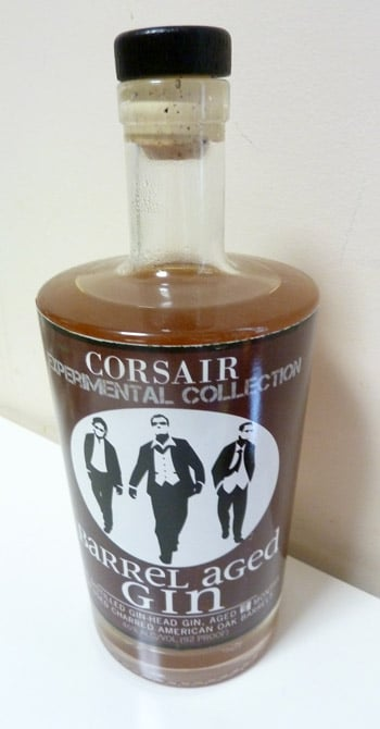 Corsair Barrel Aged Gin Bottle