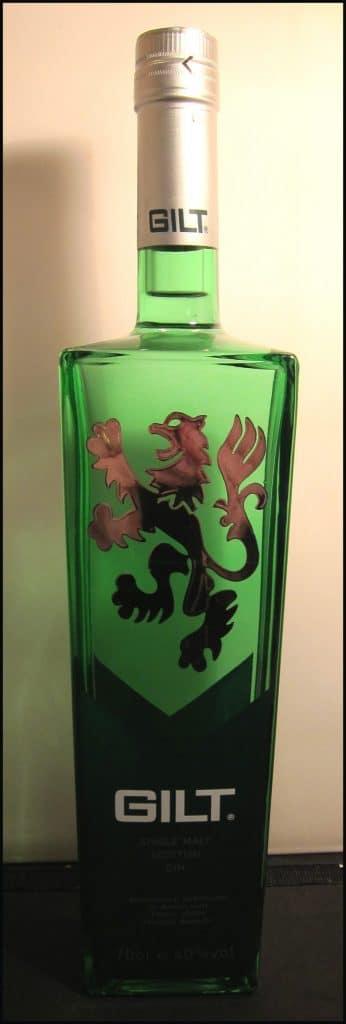 Gilt Gin Bottle