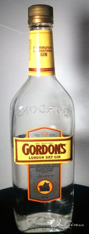gordon's gin -bottle