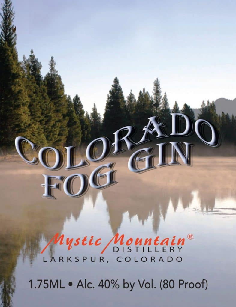 Colorado Fog Gin Label
