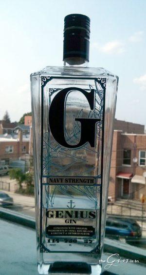 Genius Gin Navy Strength Bottle