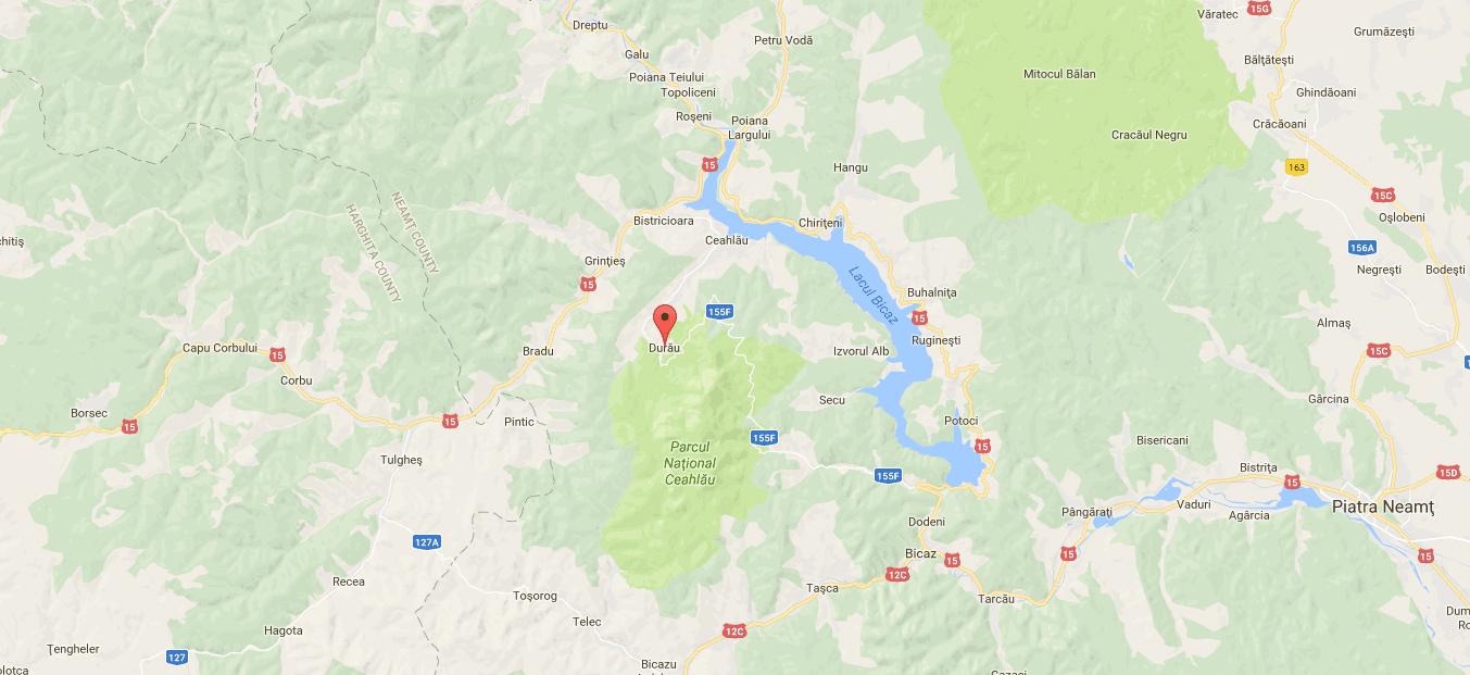 Durău, Romania Map