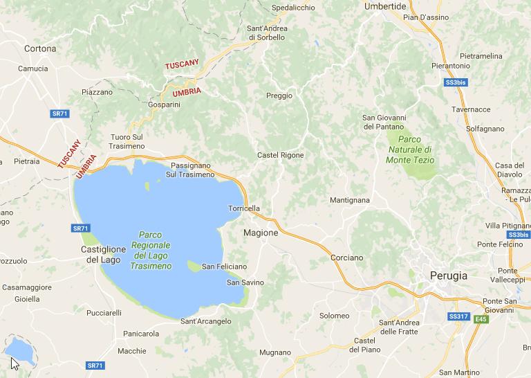Perugia, Italy location