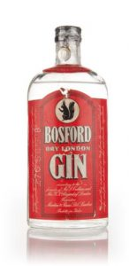 Martini and Rossi Bosford Vintage Gin from late 1940s.