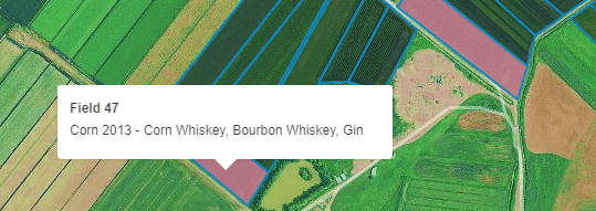 Orange County Distillery Grain Map