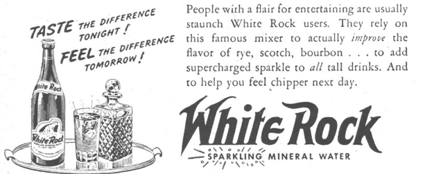 White Rock Mixer Advertisement