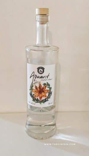 Temple Distilling Aquavit Bottle
