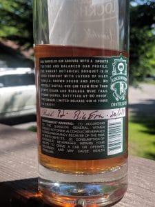 Lockhouse Barrerled Gin Batch Number
