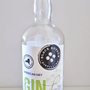 Black Button Distilling American Dry Gin Bottle