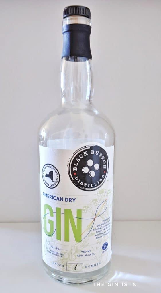 Black Button Distilling American Dry Gin Bottle