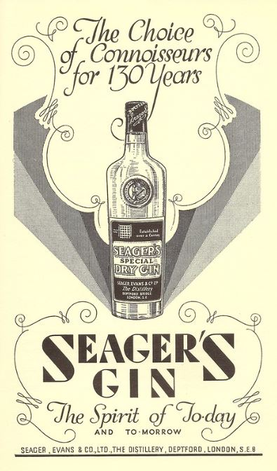 Seager's ad Food and Wine 1935