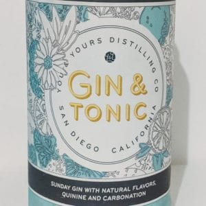 You and Yours Distilling Co. Gin and Tonic Can