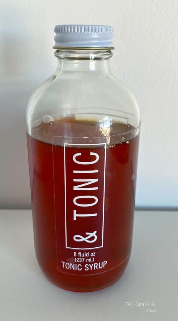 & Tonic Syrup Bottle