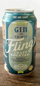 Fling Cucumber Lime Gin & Tonic